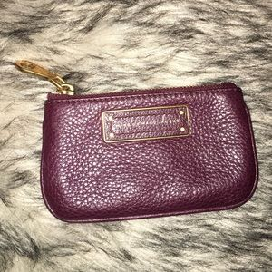 NEW Marc Jacobs purple soft leather coin purse